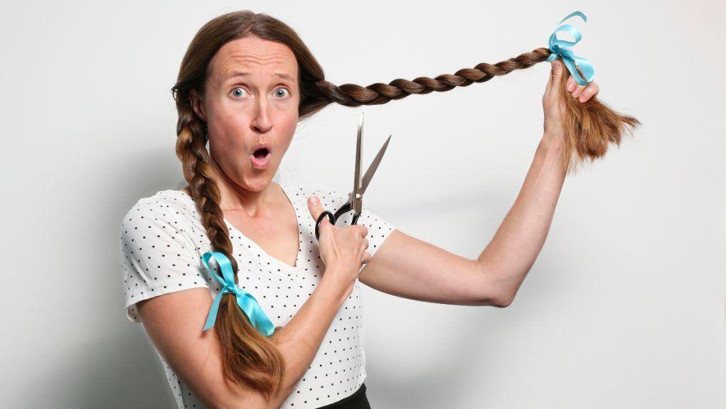 Fundraiser: Anne Nyyssonen will donate her long locks.