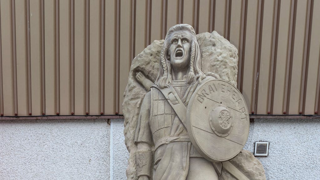 Braveheart: Statue finds a home at Brechin City.
