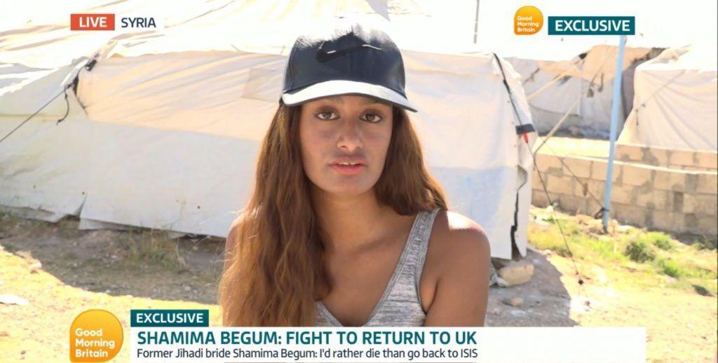 Begum was interviewed on ITV's Good Morning Britain.