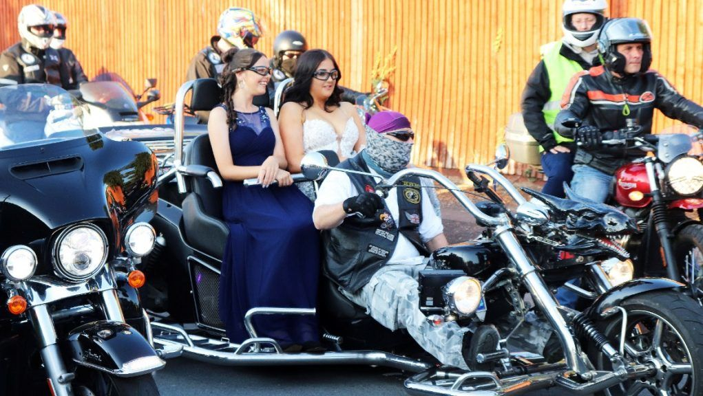 Bikers: Teen girl bullied by classmates stunned after 300 bikers escort her to prom.