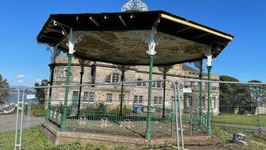 Bo'ness Glebe Park bandstand. Photo courtesy of community councillor Madelene Hunt.