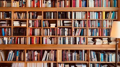 Stock image of books.