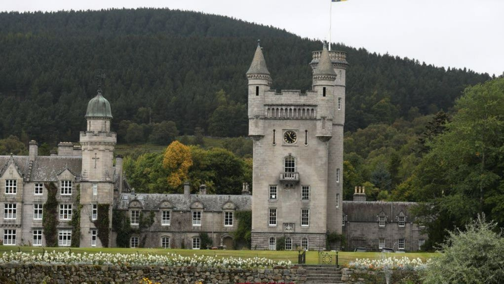 Balmoral: Boris Johnson has spent the weekend as a guest of the Queen.