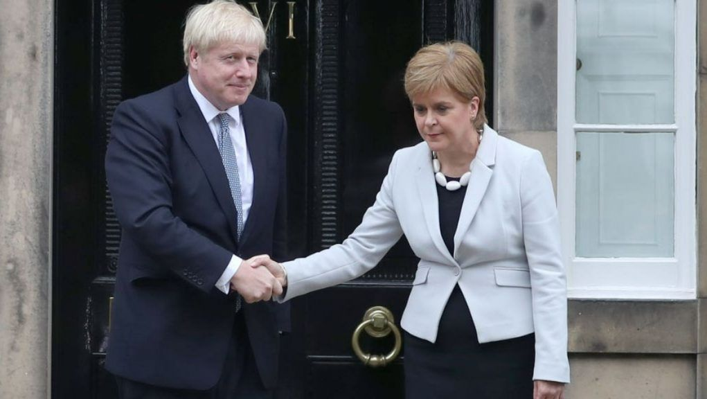 Politics: Prime Minister Boris Johnson and First Minister Nicola Sturgeon.