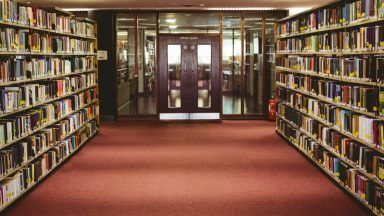 Stock image of library.