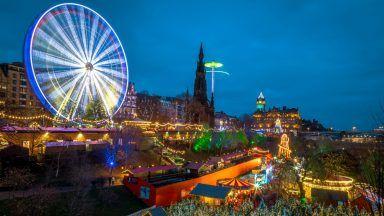 Edinburgh Christmas market.