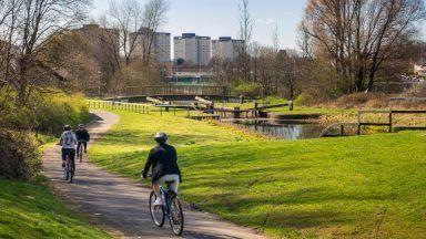 Cycle path, Glasgow.