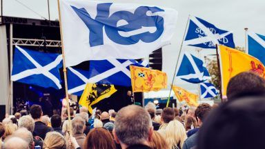 Scottish Independance rally in Edinburgh.