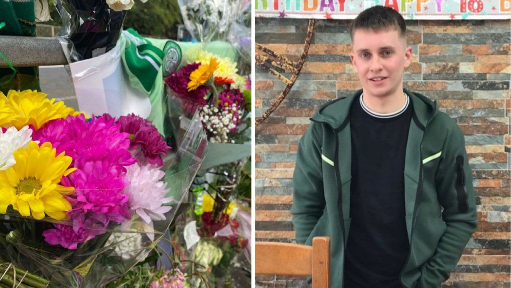 Floral tributes have been left for Aidan Pilkington who died following a hit and run in Glasgow.