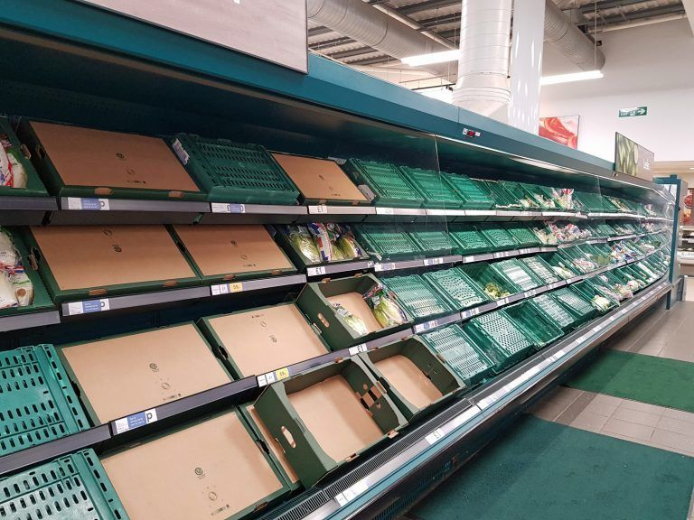 Industry groups warn that food shortages could peak at Christmas.