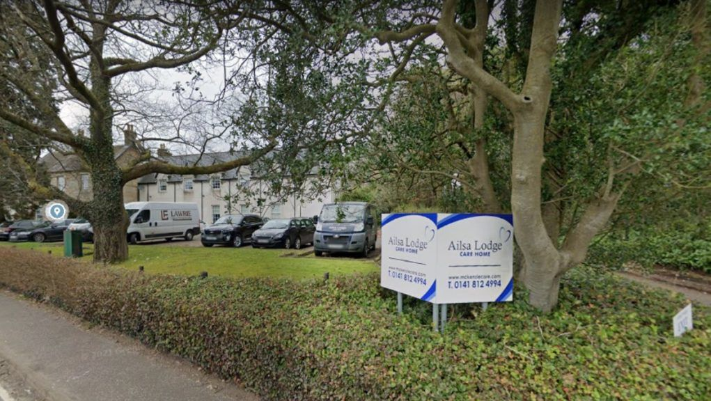 Care home: Ailsa Lodge, run by McKenzie Care Ltd, was handed a 'weak grading by the Care Inspectorate last month.
