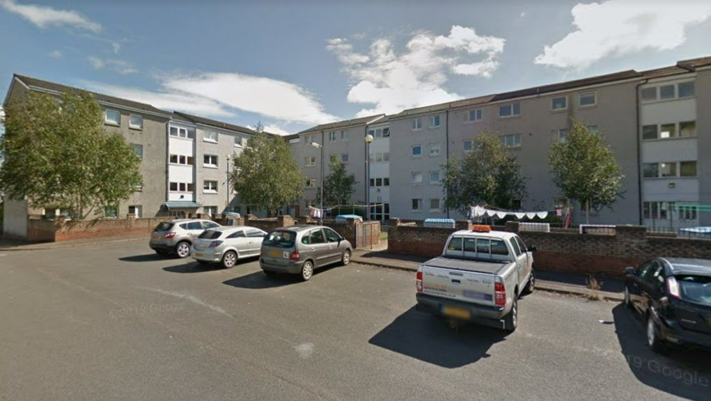 Barrhead: The toddler fell from a window in Craighead Way.