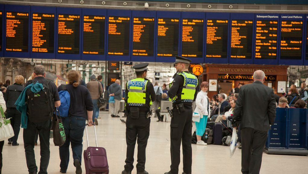 Around 15 people were involved in fight on late-night train.