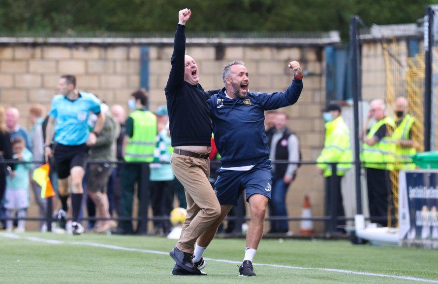 Martindale: Celebrating win over Celtic.