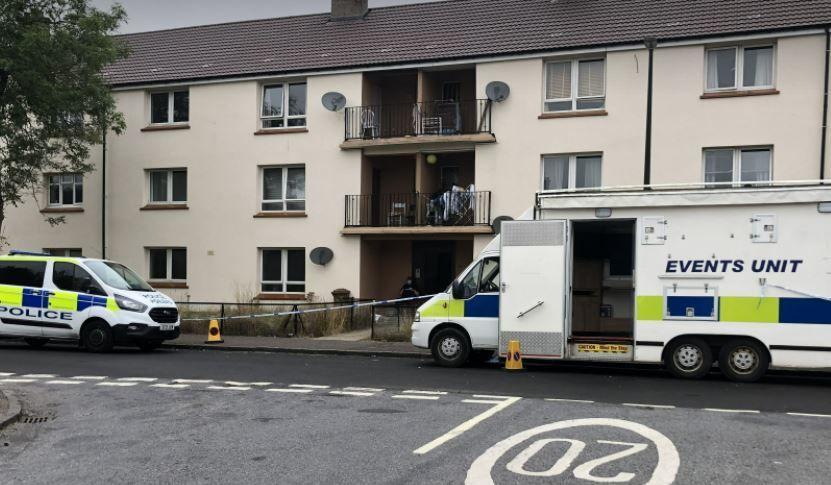 Ballindean Terrace: Man found dead in flat.