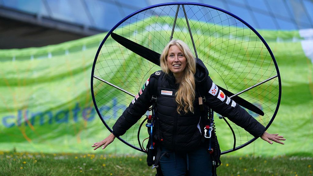 Paramotorist Sacha Dench was seriously injured in the accident.