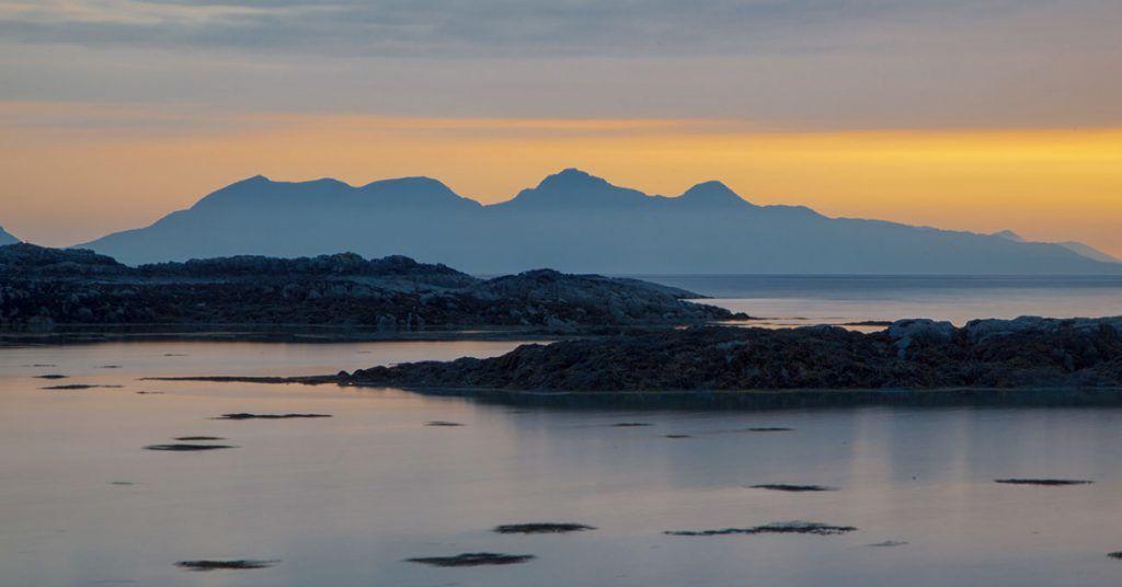 Scotland: The island of Rum.