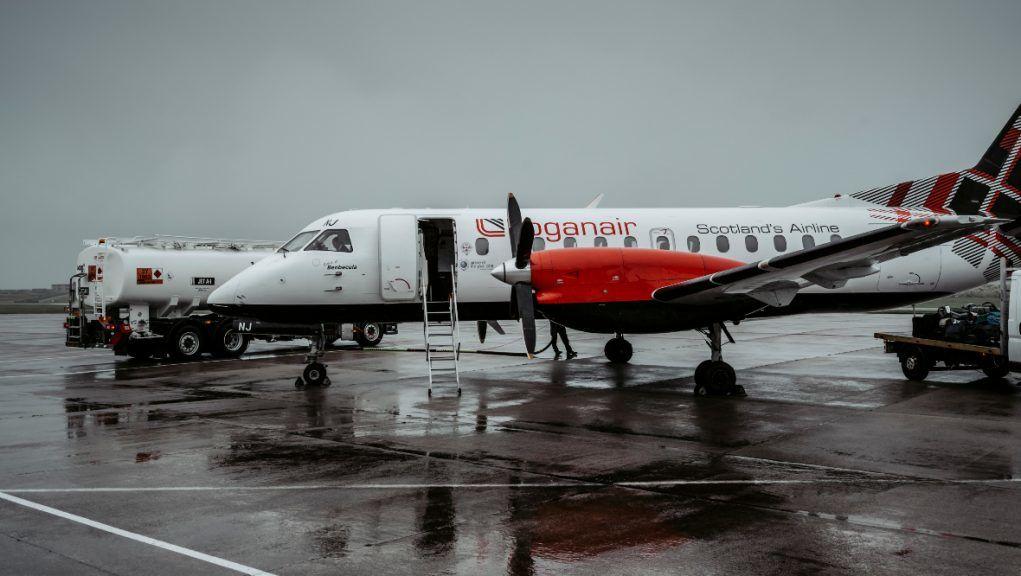 Sumburgh Airport: Loganair chief executive Jonathan Hinkles spoke to Shetland's external transport forum.