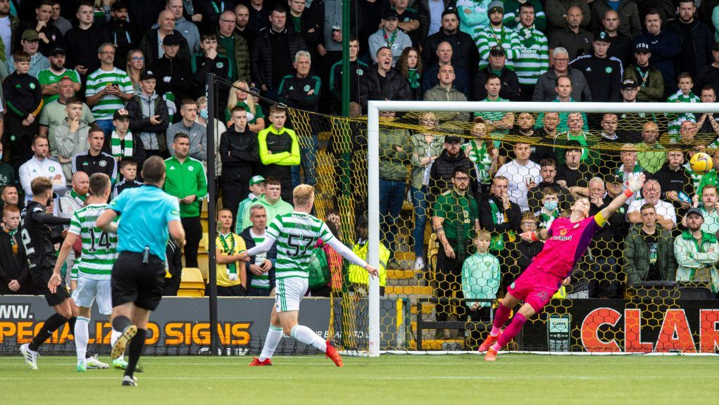 Andrew Shinnie produces a clinical finish to sink Celtic.