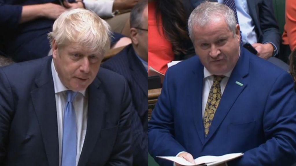 Ian Blackford and Boris Johnson clashed during PMQs on Wednesday.