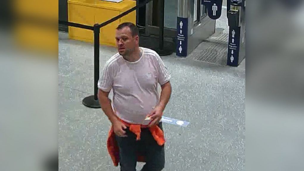 CCTV footage released of man being sought by police investigating sexual assault.
