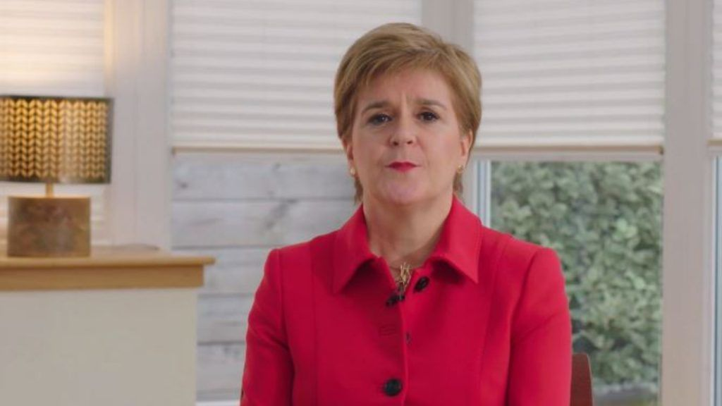 The First Minister was speaking virtually at the SNP's conference.