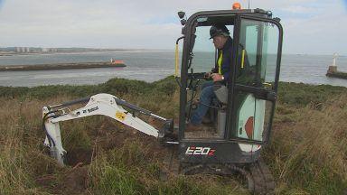 Ground broken at Greyhope Bay, Aberdeen.