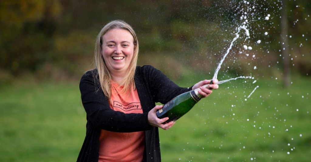 Johnstone mum-of-three Sandra Devine discovered she had won £300,000 on a National Lottery Scratchcard.