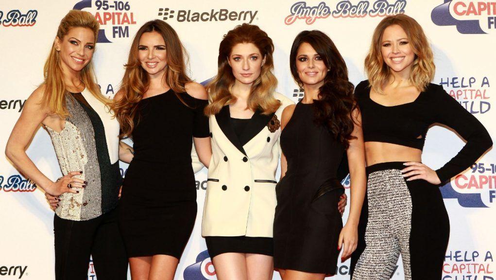 Sarah Harding (left), rose to fame with Girls Aloud.