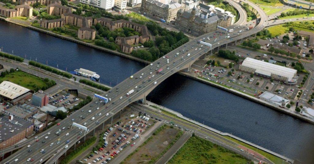 Kingston Bridge, Glasgow.