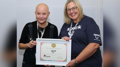 Gail Porter at the Craigshill Good Neighbour Network relaunch.