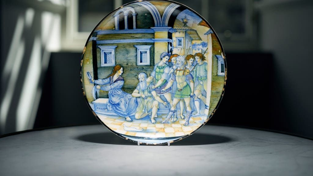 Auction: Rare dish sells for more than £1m.
