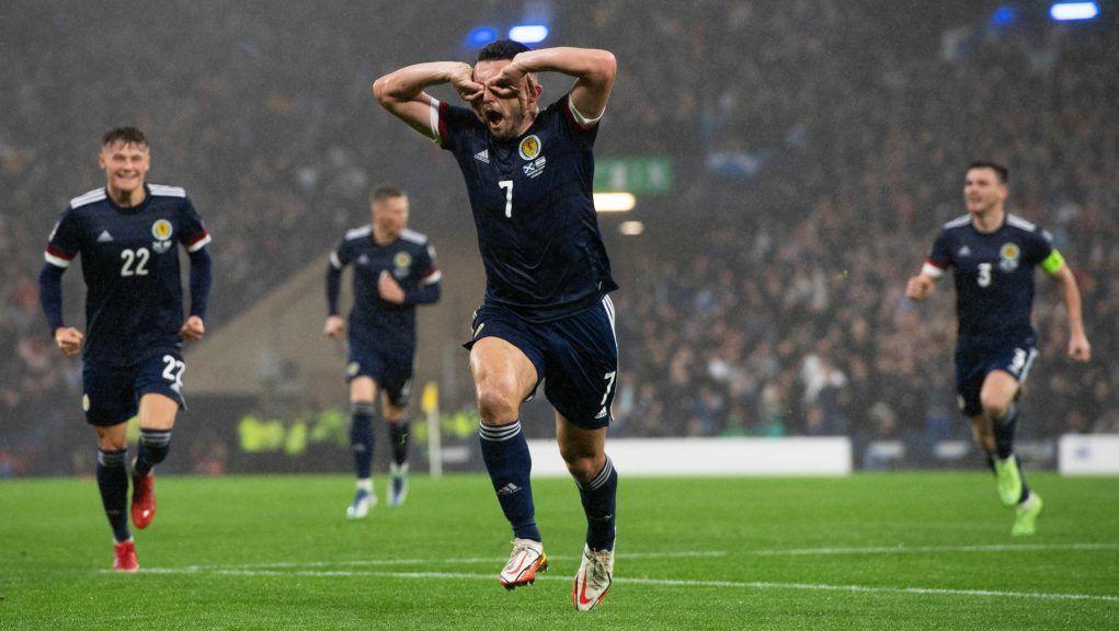 McGinn scored the first Scotland goal in the 3-2 win.