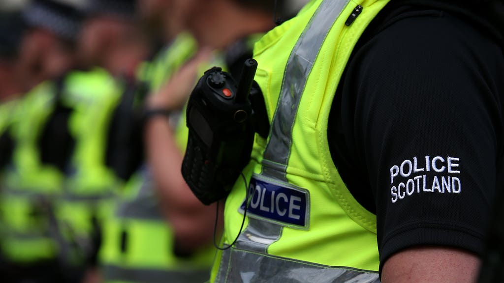 Police Scotland said a man was killed in a hit and run.
