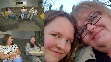Chloe Armstrong with her mum Lorna, as well as with Vicki Williamson and her son Jay.
