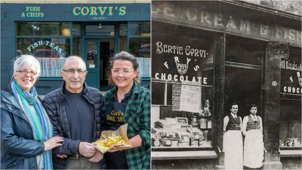 Corvi's was opened by New Yorkers Antonio and Clementina Ferarri who moved to Scotland in 1896.