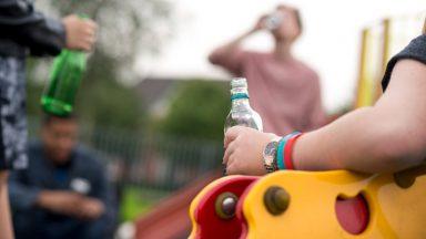 Stock image of underage drinking.