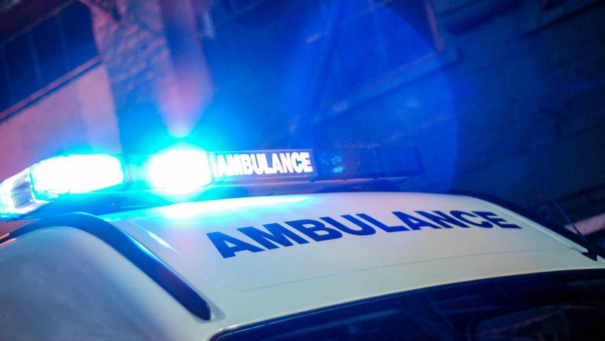 Stock image of an ambulance.