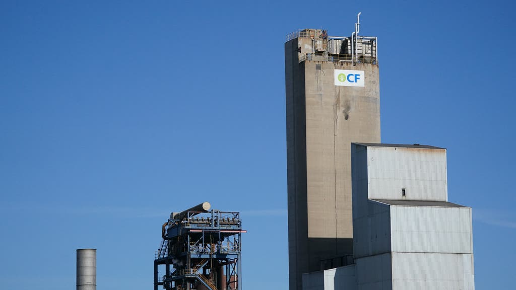 A view of the CF Fertilisers plant in Billingham, Cleveland.