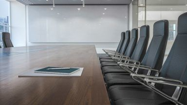 Stock image of meeting room.