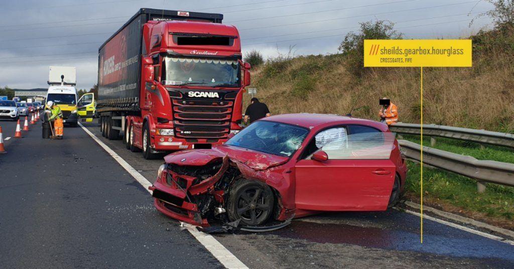 Crash on the M90.