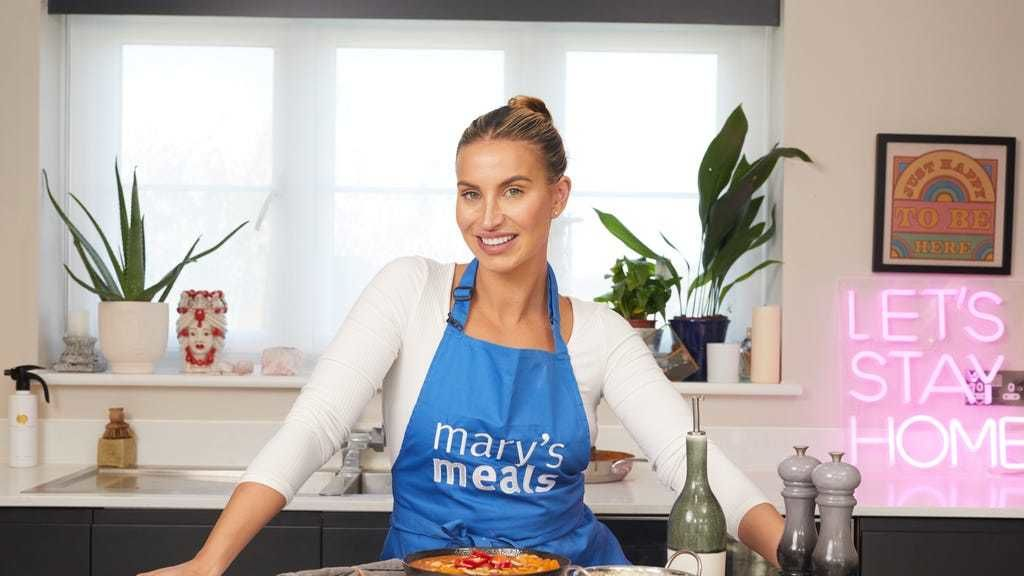 Challenge: TV stars sets herself cooking challenge in aid of Mary's Meals.