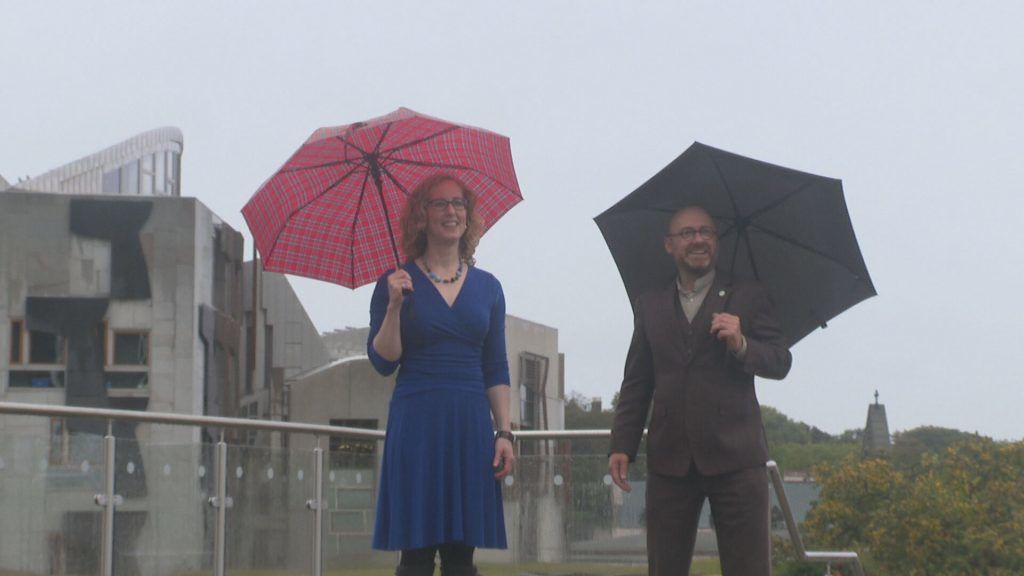 Scottish Greens co-leaders Lorna Slater and Patrick Harvie were at Dynamic Earth for their party's conference.