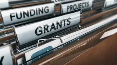 Funding and grants stock photo.