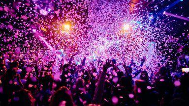 Stock image of a nightclub.